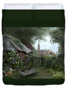 Old Shed Duvet Cover by Dominic Davison