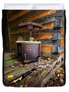 Old Sorghum Press Duvet Cover by Debra and Dave Vanderlaan