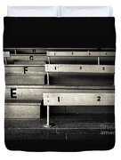 Old Stadium Bleachers Duvet Cover by Diane Diederich