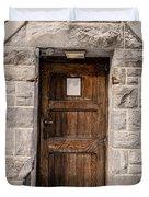 Old Stone Church Door Duvet Cover by Edward Fielding