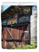 Old Storage Shed At the Swiss Hotel Sonoma California 5D24459 Duvet Cover by Wingsdomain Art and Photography