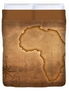 Old Style Africa Map Duvet Cover by Johan Swanepoel