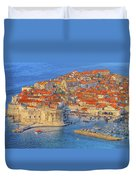 Old Town Dubrovnik Duvet Cover by Douglas J Fisher