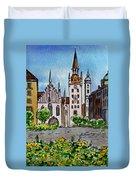 Old Town Hall Munich Germany Duvet Cover by Irina Sztukowski