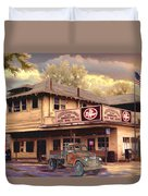Old Town Irvine Country Store Duvet Cover by Ronald Chambers