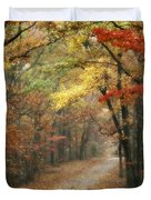 Old Trace Fall - Along The Natchez Trace In Tennessee Duvet Cover by T Lowry Wilson
