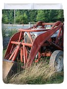 old tractor Duvet Cover by Jennifer Lyon