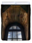 Old Wooden Window Duvet Cover by Nathan Wright