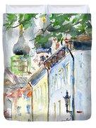 Oldtown Tallinn Estonian Duvet Cover by John D Benson