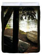 On The Island Duvet Cover by Michelle Calkins