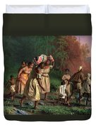 On To Liberty Duvet Cover by Theodor Kaufmann