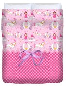 Once Upon A Princess Duvet Cover by Debra  Miller