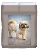 One Happy Little Dog Duvet Cover by Lainie Wrightson
