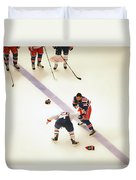 One Two Punch Duvet Cover by Karol Livote