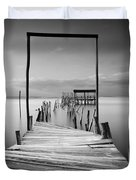 One Way Duvet Cover by Jorge Maia