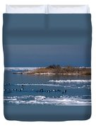 Open Water Duvet Cover by Skip Willits