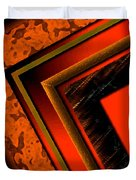 Orange And Brown  Duvet Cover by Mario Perez