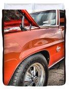 Orange Chevelle Ss 396 Duvet Cover by Dan Sproul