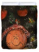 Orange Clover Christmas Duvet Cover by Laurie D Lundquist