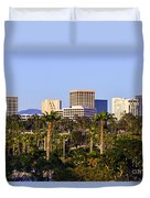 Orange County California Office Buildings Picture Duvet Cover by Paul Velgos
