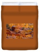 Orange Rock Formation Duvet Cover by Jeff Swan