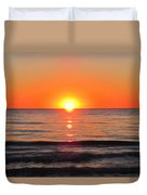 Orange Sunset  Duvet Cover by Sharon Cummings