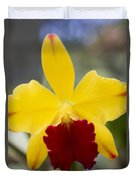 Orchid Beauty - Cattleya - Pot Little Toshie Mini Flares Mericlone Hawaii Duvet Cover by Sharon Mau