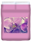 Orchid Lilac Dark Duvet Cover by Hannes Cmarits