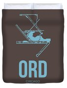 Ord Chicago Airport Poster 2 Duvet Cover by Naxart Studio
