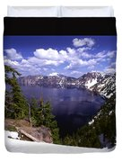 Oregon Crater Lake  Duvet Cover by Anonymous