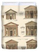 Origin And Development Of Architecture Duvet Cover by Splendid Art Prints