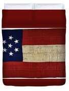 Original Stars And Bars Confederate Civil War Flag Duvet Cover by Daniel Hagerman