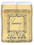 Original Patent For Monopoly Board Game Duvet Cover by Edward Fielding