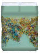 Worldly Flowers Duvet Cover by Sara Gardner