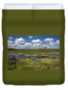Orlando Wetlands Cloudscape 2 Duvet Cover by Mike Reid