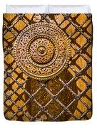 Ornate Door Knob Duvet Cover by Carolyn Marshall