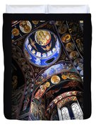 Orthodox Church Interior Duvet Cover by Elena Elisseeva