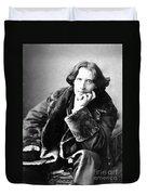 Oscar Wilde In His Favourite Coat 1882 Duvet Cover by Napoleon Sarony