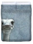Ostriches Duvet Cover by James W Johnson