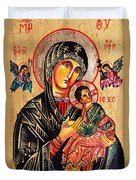 Our Lady Of Perpetual Help Icon Duvet Cover by Ryszard Sleczka