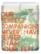 Our Perfect Companion Duvet Cover by Debbie DeWitt