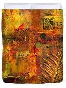 Out Back In His Workshop Duvet Cover by Angela L Walker