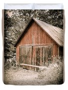 Out By The Woodshed Duvet Cover by Edward Fielding
