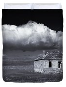 Outback Ruin Duvet Cover by Mike  Dawson