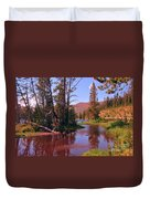 Outstanding Yellowstone National Park Duvet Cover by John Malone