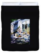Over Sleepy Garden Walls Duvet Cover by Hanne Lore Koehler