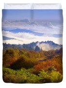 Over the Fog. Trossachs National Park. Scotland Duvet Cover by Jenny Rainbow