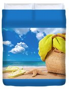 Overlooking The Ocean Duvet Cover by Amanda And Christopher Elwell