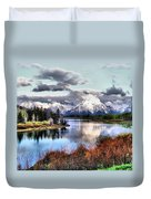 Oxbow Bend Duvet Cover by Dan Sproul