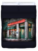 Oyster House Duvet Cover by Lori Deiter